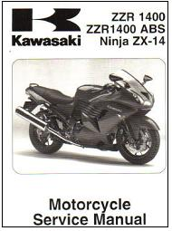 2006 - 2007 Kawasaki ZZR-1400 Ninja ZX-14 Motorcycle Factory Service Manual