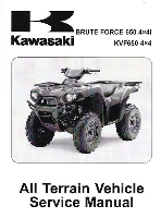 2006 - 2014 Kawasaki KVF650F, G, & H Brute Force 650 4x4i ATV Factory Service Manual