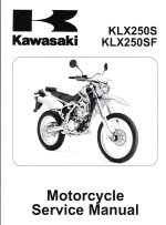 2009 - 2011 Kawasaki KLX250SF, KLX250T & KLX250S Motorcycle Factory Service Manual