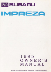 1995 Subaru Impreza Owner's Manual