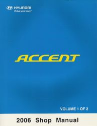 2006 Hyundai Accent Factory Shop Manual Volume 1