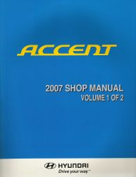 2007 Hyundai Accent Factory Shop Manual Volume 1