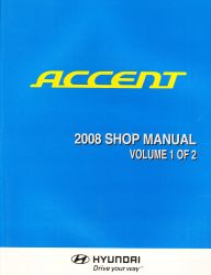 2008 Hyundai Accent Factory Shop Manual Volume 1