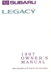 1997 Subaru Legacy Factory Owner's Manual