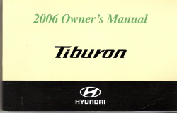 2006 Hyundai Tiburon Factory Owner's Manual