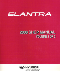 2008 Hyundai Elantra Factory Shop Manual Volume 2