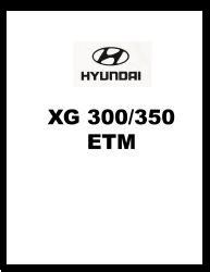 2004 Hyundai XG 300/350 Factory Electrical Troubleshooting Manual - ETM