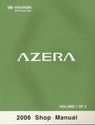 2006 Hyundai Azera Factory Shop Manual Volume 1