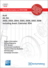 2002-2008 Audi A4/S4 Repair Manual on DVD-ROM