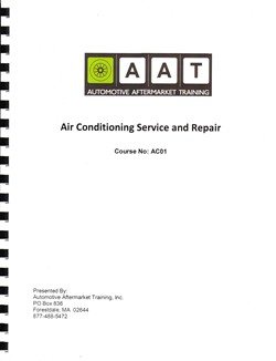 Air Conditioning Service and Repair Course Manual
