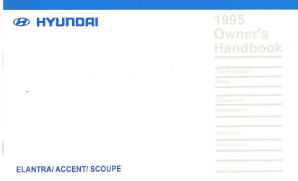 1995 Hyundai Accent Factory Owner's Manual
