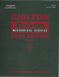 2006 Chilton's Asian Mechanical Service Manual, Volume 1 - (2002 - 2005 year coverage)