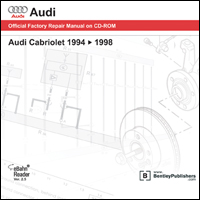 1994 - 1998 Audi Cabriolet Official Factory Repair Manual on CD-ROM