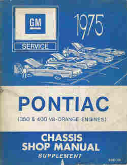1975 Pontiac Chassis Shop Manual Supplement