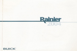 2004 Buick Rainier Owner's Manual