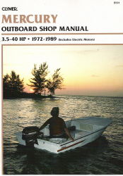 1972 - 1989 Mercury 2 and 4-stroke 3.5-40 HP Outboard Clymer Repair Manual