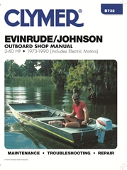1973 - 1990 Johnson / Evinrude 2-40 hp (Includes Electric Motors) Outboard Clymer Shop Manual