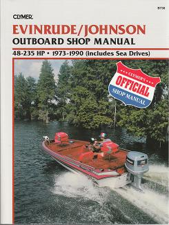 1973 - 1990 Evinrude / Johnson 2 and 4-stroke 48-235 HP Outboard  (Includes Sea Drives) Clymer Shop Manual