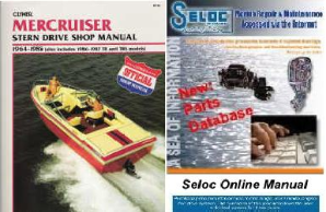 Bonus Pack: 1964 - 1985 Mercruiser Stern Drive by Clymer, plus Seloc Online Repair & Part Information