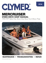 1995 - 1997 MerCruiser Stern Drives - Alpha One, Bravo One, Two and Bravo Three Clymer Repair Manual