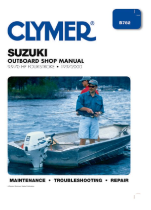1997 - 2000 Suzuki 9.9-70 HP 4-stroke Outboard Clymer Repair Manual