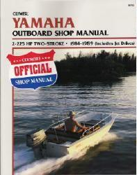 1984 - 1989 Yamaha 2-225 HP 2-stroke Outboard & Jet Drive Clymer Repair Manual