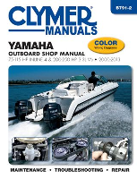 Yamaha Outboard Clymer Shop Manual 75-115 HP Inline 4 and 200-250 HP 3.3L V6 2000-2013