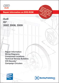 2007 - 2009 Audi Q7 Factory Service Manual DVD-ROM