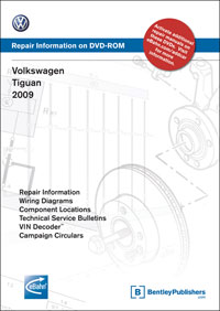 2009 Volkswagen Tiguan Factory Repair Manual on DVD-ROM