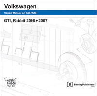 2006 - 2007 Volkswagen GTI & Rabbit Official Factory Service Manual on DVD-ROM