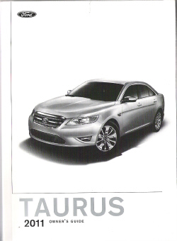 2011 Ford Taurus Owners Manual with Case