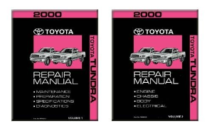2000 Toyota Tundra & SR5 Factory Service Manual - 2 Vol. Set