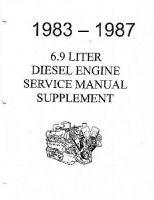 1983 - 1987 Ford Truck 6.9 Diesel Engine Supplement Factory Service Manual