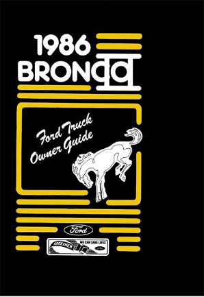 1986 Ford Bronco II Owner's Manual
