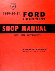 1949 - 1952 Ford F-Series Trucks Factory Shop Manual CD-ROM