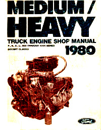 1980 Ford Medium & Heavy Duty Trucks Factory Shop Manual CD-ROM
