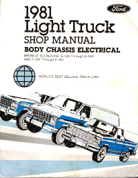 1981 Ford Light Truck: Bronco, Econoline, F-100, F-250, F-350 Factory Shop Manual CD-ROM