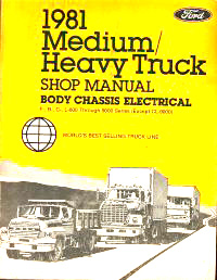 1981 Ford Medium & Heavy Duty Trucks Factory Shop Manual CD-ROM
