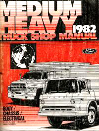 1982 Ford Medium & Heavy Duty Truck Factory Shop Manual CD-ROM