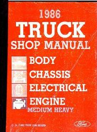 1986 Ford Medium & Heavy Duty Trucks Factory Shop Manual CD-ROM