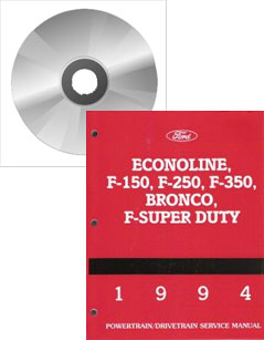 1994 Ford F150, F250, F350, Bronco, F-Super Duty & Econoline Factory Service Manual on CD-ROM