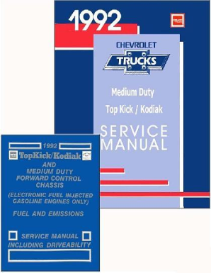 1992 GMC Topkick / Kodiak Factory Service Manual & Emissions Manual - CD-ROM