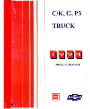 1994 Chevrolet Truck Light Duty Diesel Supplement Shop Manual