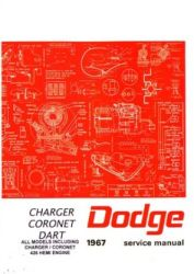1967 Dodge Car Charger, Coronet and Dart Factory Service Manual on CD-ROM