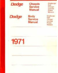 1971 Dodge Car (All Models) Factory Service Manual on CD-ROM