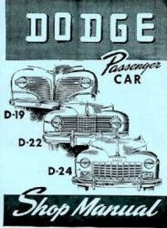 1941 - 1948 Dodge Car (All Models) Factory Service Manual on CD-ROM