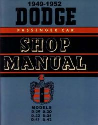 1949 - 1952 Dodge Car (All Models) Factory Service Manual on CD-ROM