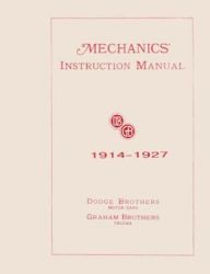 1914 - 1927 Dodge Car and Truck (All Models) Factory Service Manual on CD-ROM