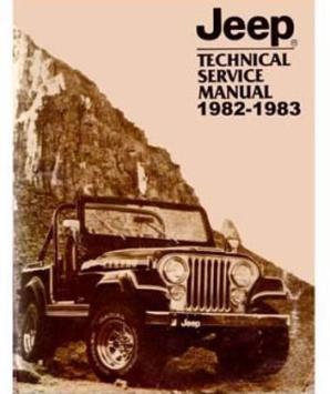 1982 - 1983 Jeep Factory Shop Manual on CD-ROM - All Models