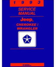 1993 Jeep Cherokee, Wrangler Factory Shop Manual on CD-ROM